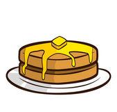Pancake doodle — Stock Vector