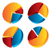 3d-cirkeldiagram — Stockvector