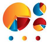 3d pie chart — Stock Vector