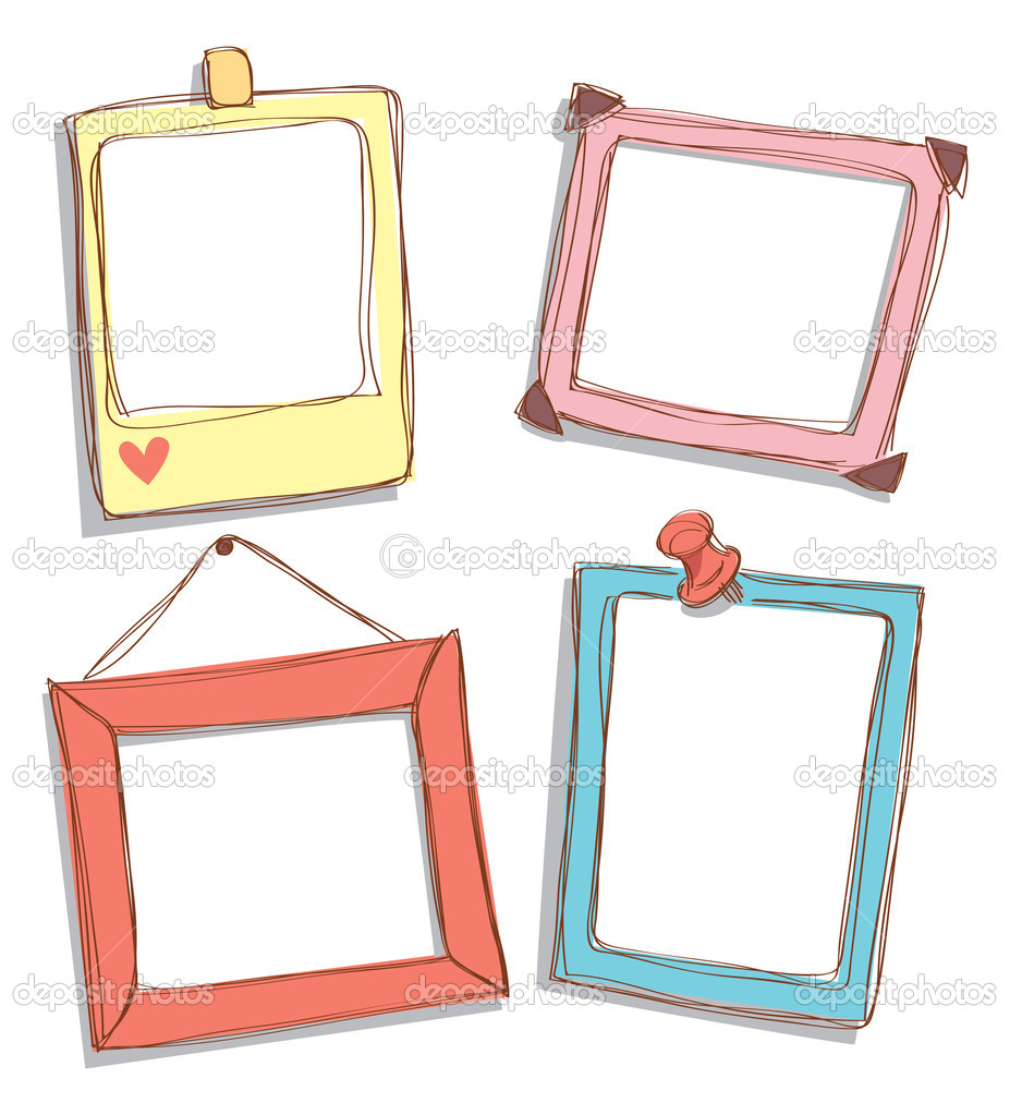 Cute frame doodle stock vector mhatzapa 11791921 for Photo clip wall frame