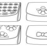 Leather wallets, black contour — Stock Photo