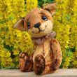 Ron fox cub and flowers — Stock Photo #11090082