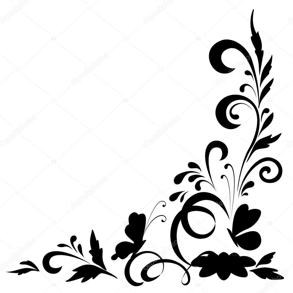 Çiçek arka plan, silhouettes — Stok Vektör © alexcoolok ...