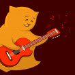 Red cat guitarist — Stock Photo #11168691