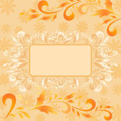 Background, flowers and frame — Stock Vector