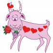 Valentine goat - Stock Photo