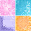 Stock Photo: Set abstract floral backgrounds