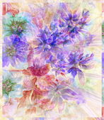 Water colour, abstract flowers — Stock Photo