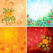Royalty-Free Stock Photo: Set abstract floral backgrounds