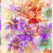 Stock Photo: Water colour, abstract flowers