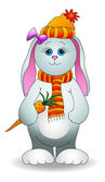 Rabbit girl with a carrot — Stock Vector