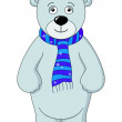 Teddy bear white in a scarf — Stock Photo #12181753