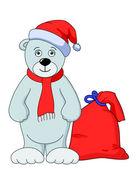 Teddy bear babbo natale — Foto Stock