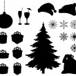 Christmas holiday objects - Stockfoto