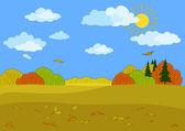 Outono paisagem de floresta — Foto Stock