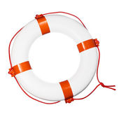 Lifebuoy on white — Stock Photo