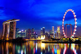 Singapore city skyline at night — Stock Photo
