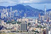 Hong kong kalabalık bina — Stok fotoğraf