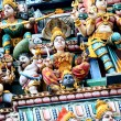 Detail of Sri Mariamman temple — Stock Photo