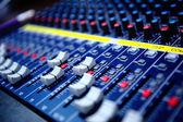 Commandes de console de mixage audio — Photo