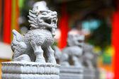 Chinese lion statue — Stock Photo