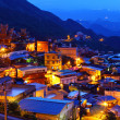 Jiu fen village at night, in Taiwan — Stock Photo