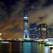 Kowloon at night - Stock Photo