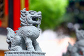 Statua di leone cinese — Foto Stock