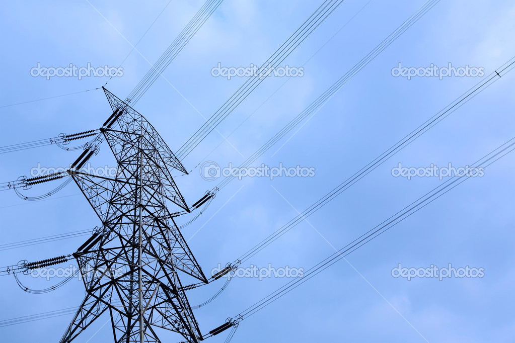 Electricity tower  Stock fotografie #12016548