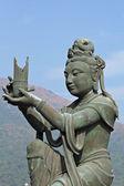 Statue dans le temple chinois — Photo
