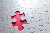Fehlende puzzleteil — Stockfoto