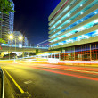 Highway at night in modern city — Stock Photo #12235542