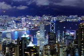 Hong Kong with crowded building at night — 图库照片