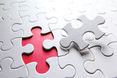 Puzzle with missing piece — Stockfoto