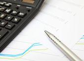 Financial chart — Stock Photo