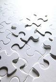 Puzzle blanco — Foto de Stock