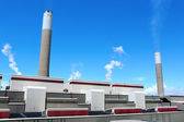 Coal fired electric power station — Stock Photo