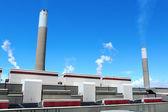 Carbone infornato stazione di energia elettrica — Foto Stock