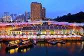 Singapore city at night — Stockfoto