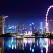 Singapore city skyline at night — Lizenzfreies Foto
