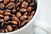 Coffee bean in cup — Stock Photo