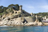 Spain. Tossa de Mar. A view of a fortress — Stock Photo