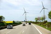 Windgenerator along an autoban — Stock Photo