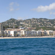 Spain. Resort Lloret de Mar. View from the sea. — Stock Photo #10827356