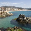 Spain, Lloret de Mar. View of a beach. — Stock Photo