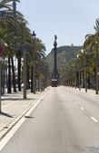 Espanha, barcelona. monumento a colombo. — Foto Stock