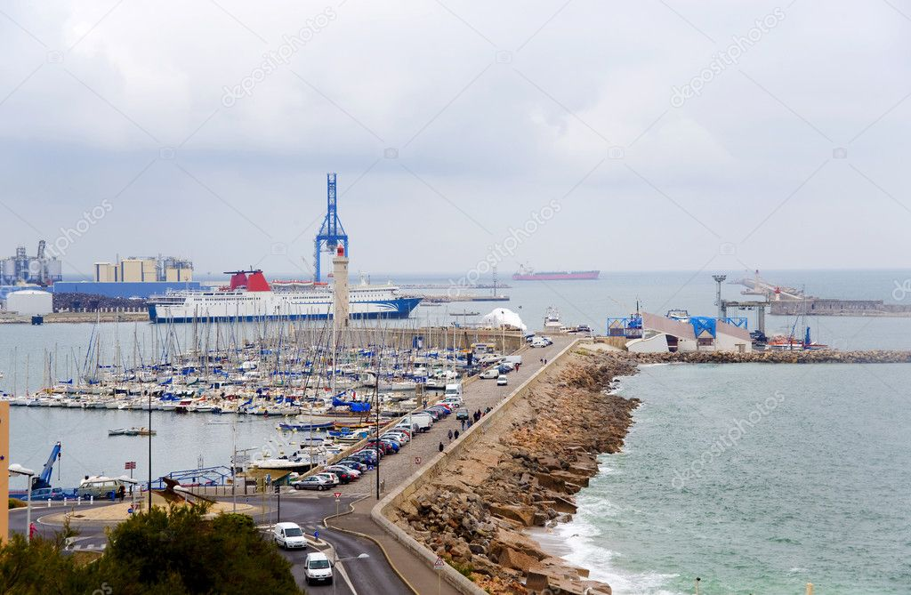 France. Sete. Fishing port. An output from the port to the gulf  Stock Photo #11573793