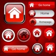 Home high-detailed web button collection. — 图库矢量图片 #10977519