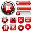 Stock Vector: Aim high-detailed web button collection.