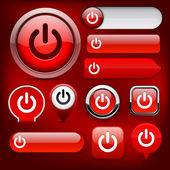Power high-detailed web button collection. — Stock Vector